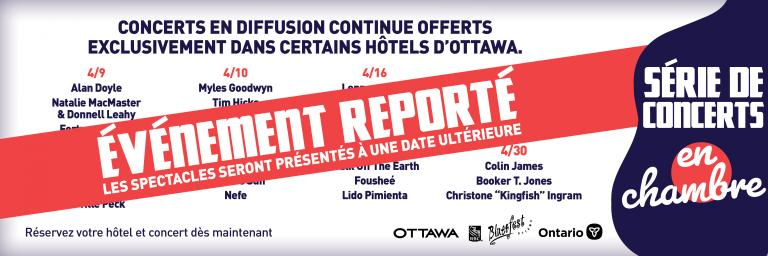 POSTPONED - Room Service concert series : An Ottawa hotel exclusive