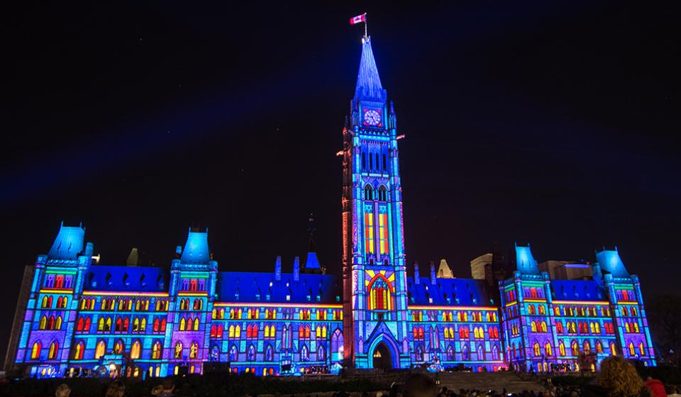 The Sound and Light Show on Parliament Hill - Northern Lights