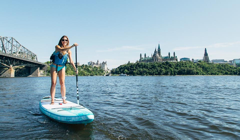 Paddle Boarding on the Ottawa River