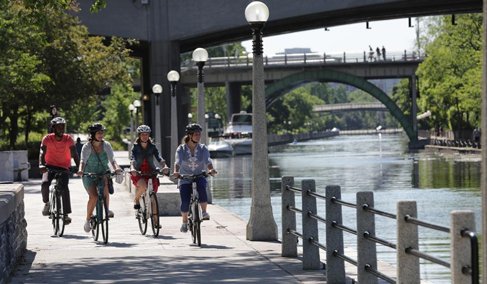 Rideau Canal - cycling