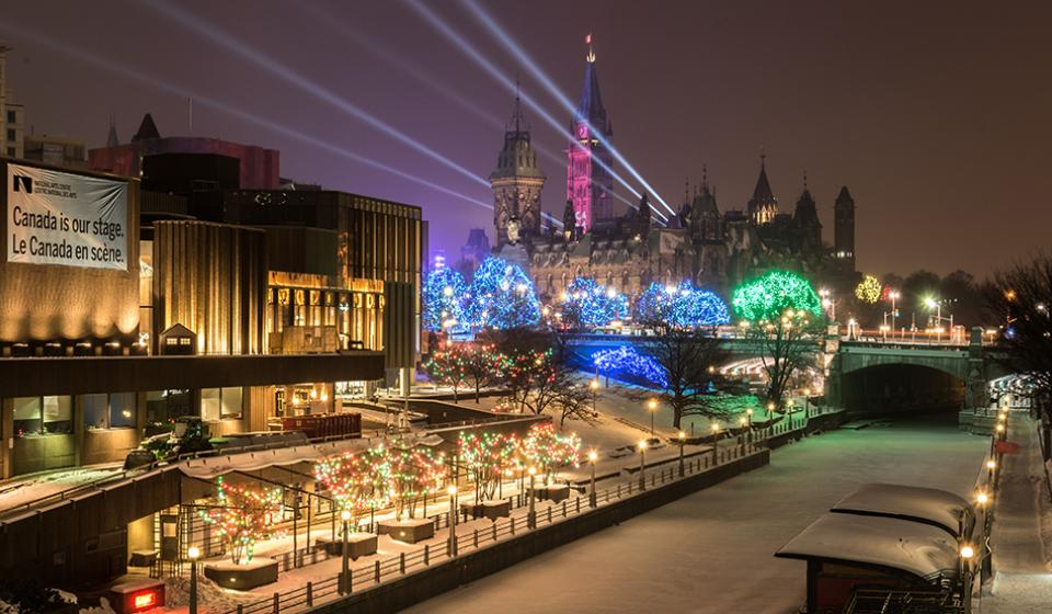 Rideau Canal and Christmas Lights