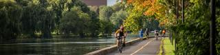 Cycling, Rideau Canal, Fall